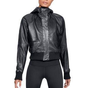 Under Armour UA Genuine Leather Bomber Jacket
